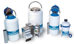 Cuve transport echantillon biologique azote liquide